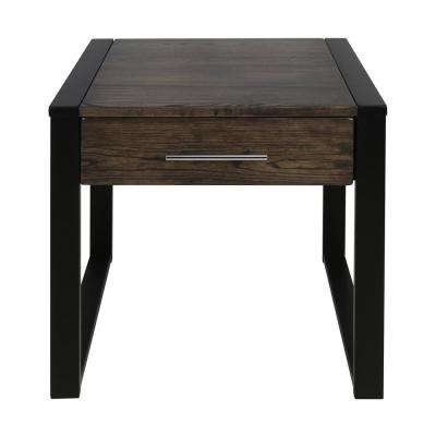 Austin Charcoal/Black Solid American Ash End Table