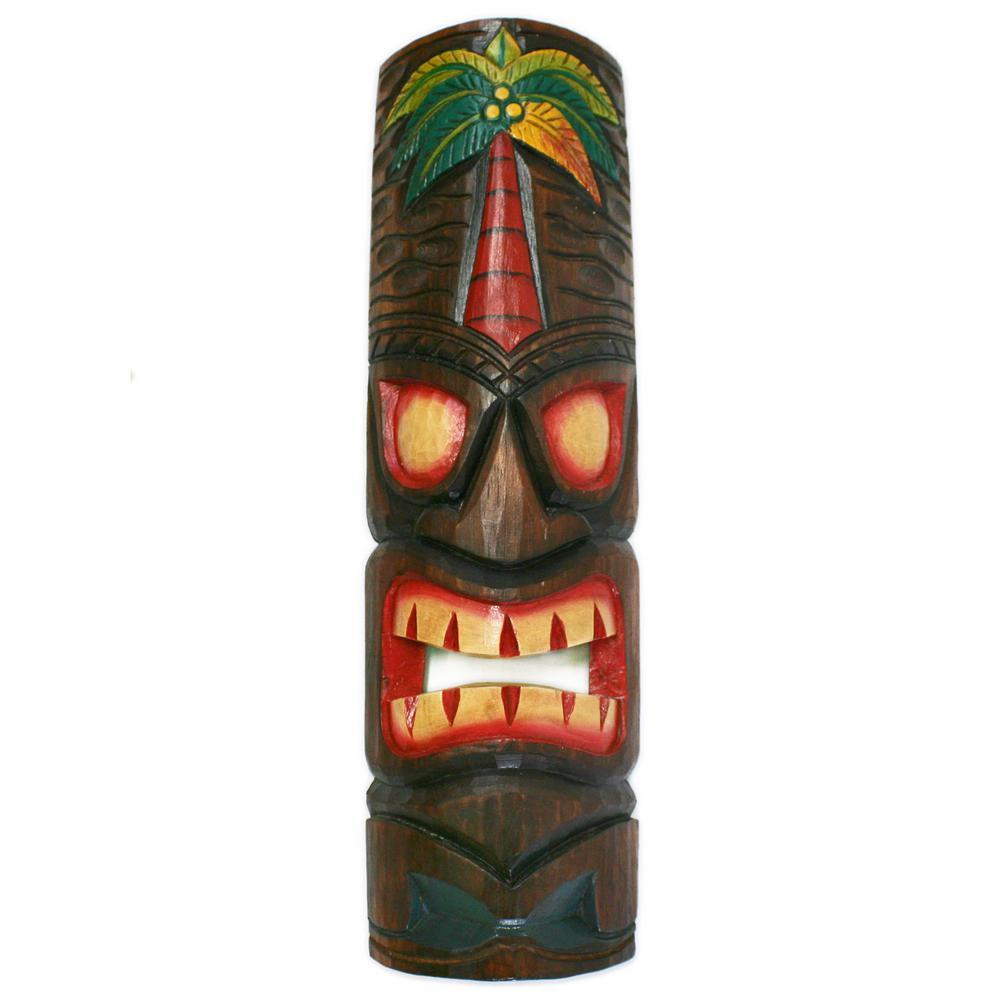 Fantastic Backyard X Scapes 20 In Tiki Mask Palm Tree Polynesian Wood Art Decoration Interior Design Ideas Truasarkarijobsexamcom