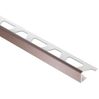 Jolly Red Brown Color-Coated Aluminum 3/8 in. x 8 ft. 2-1/2 in. Metal Tile Edging Trim