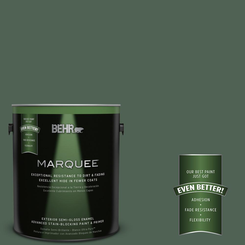 1-gal. #BXC-60 Pasture Green Semi-Gloss Enamel Exterior Paint