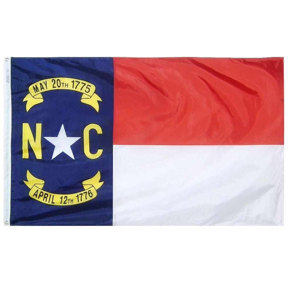 2 ft. x 3 ft. Nylon North Carolina State Flag