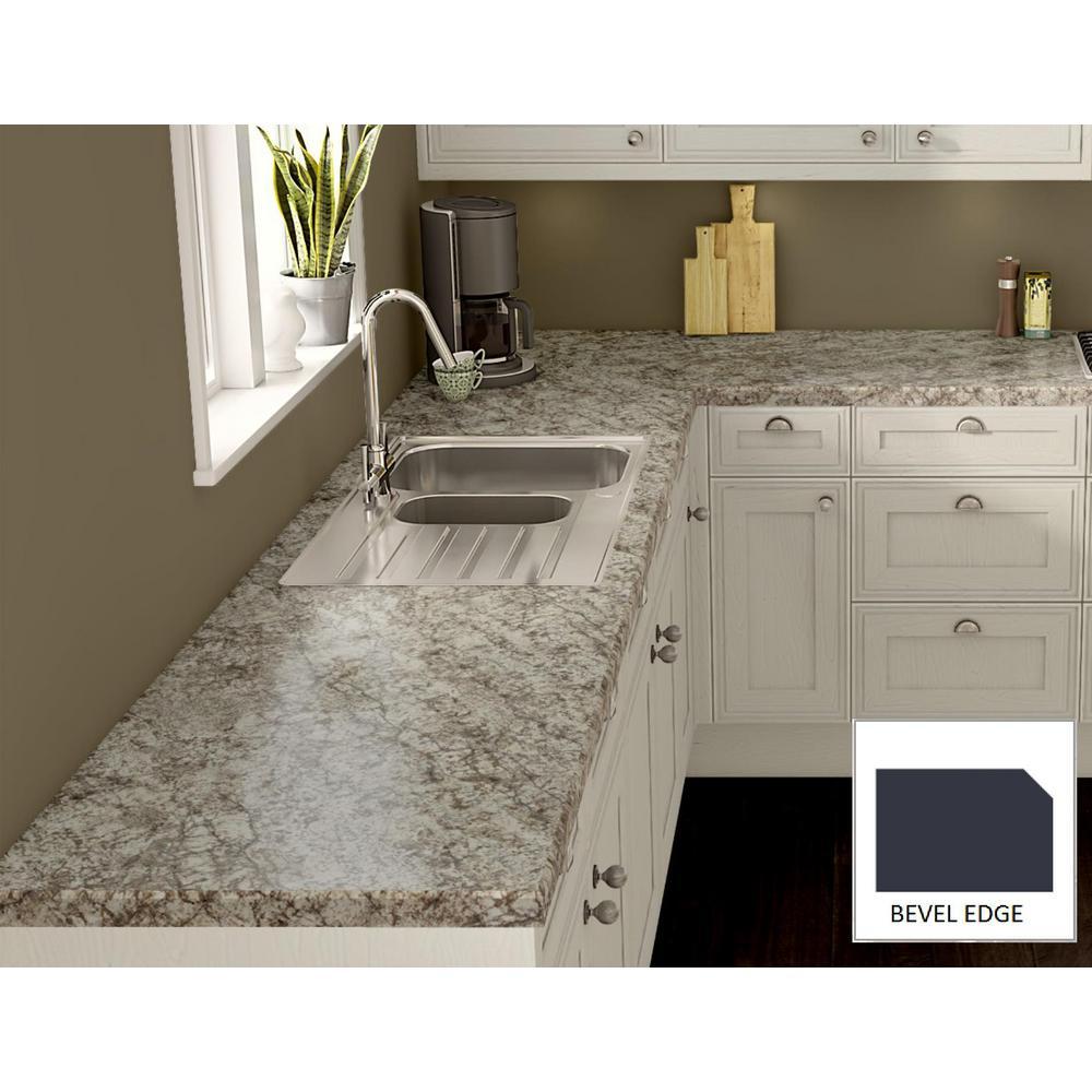 Wilsonart Bianco Romano Laminate Custom Bevel Edge C F B144187235 The Home Depot