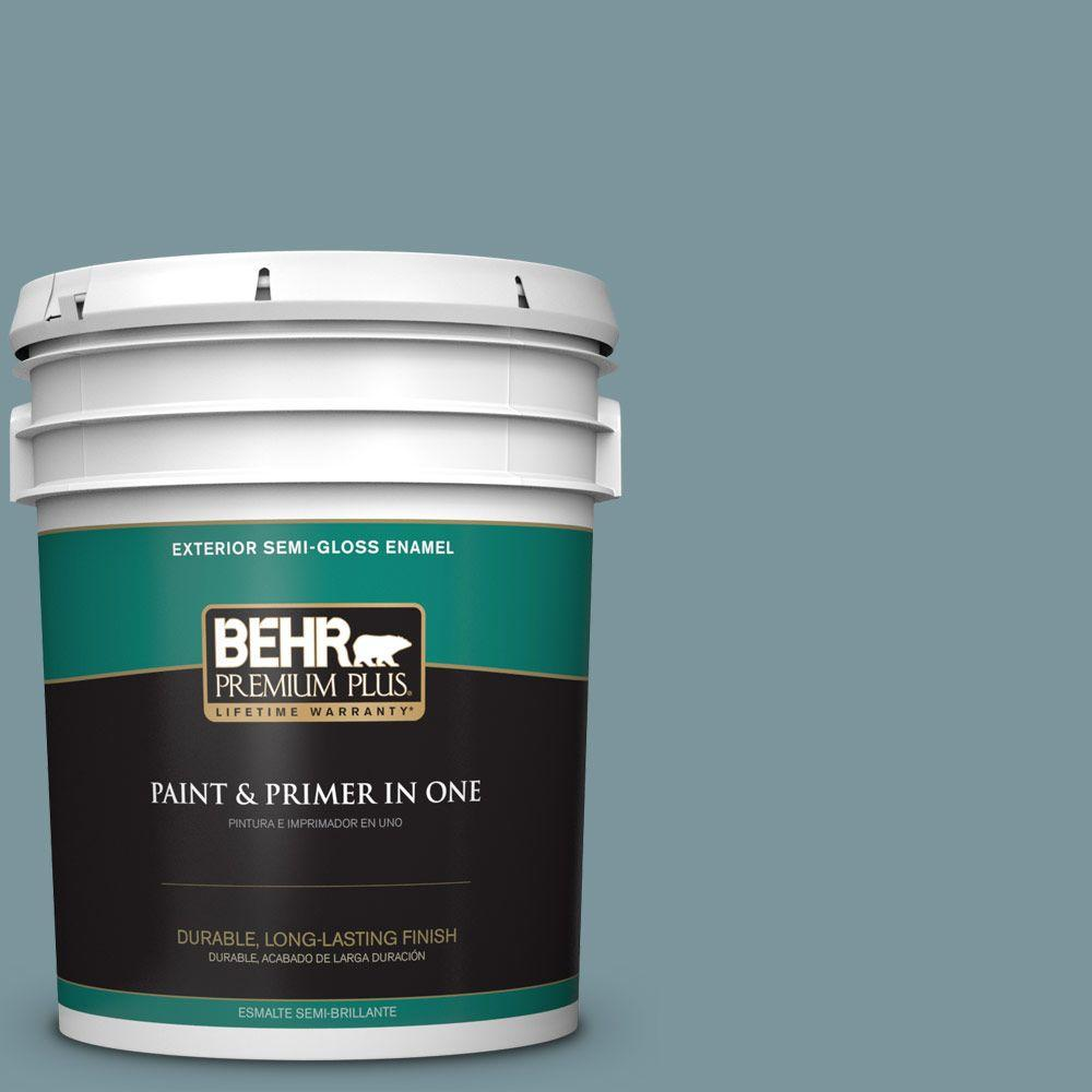 5-gal. #ECC-56-3 Lake View Semi-Gloss Enamel Exterior Paint