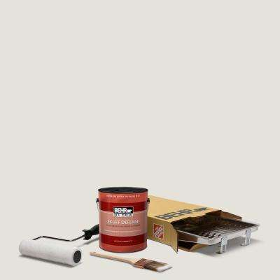 1 gal. #PPU18-08 Painters White Ultra Extra Durable Flat Interior Paint and 5-Piece Wooster Set All-in-One Project Kit
