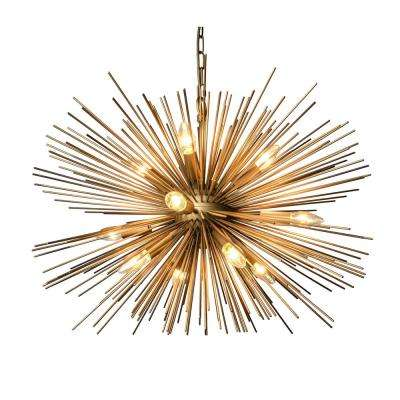 Mid century modern chandeliers lighting the home depot 12 light gold chandelier aloadofball Images