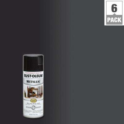 11 oz. Metallic Black Night Protective Spray Paint (6-Pack)