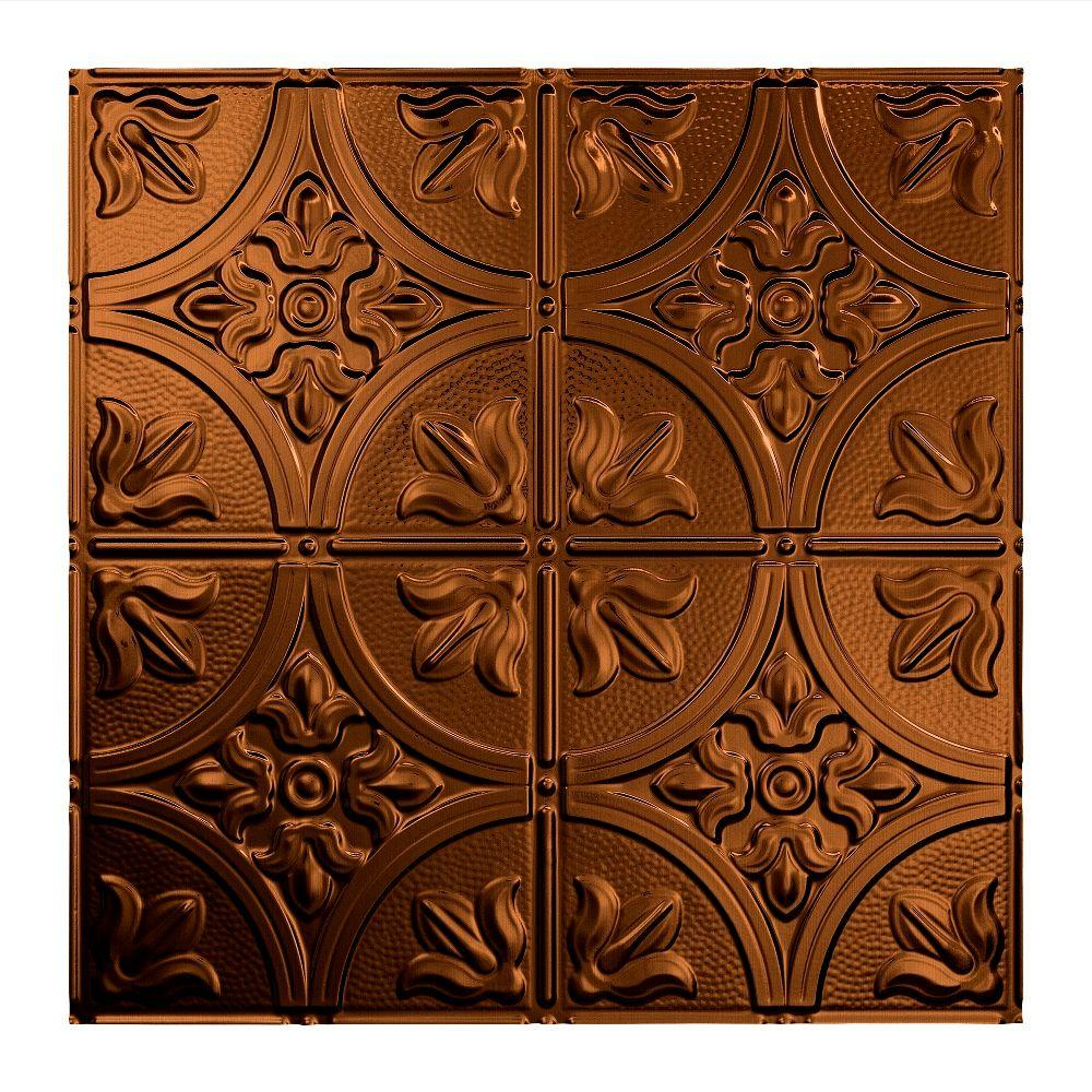 Fasade Traditional 2 - 2 ft. x 2 ft. Lay-in Ceiling Tile in Oil Rubbed Bronze