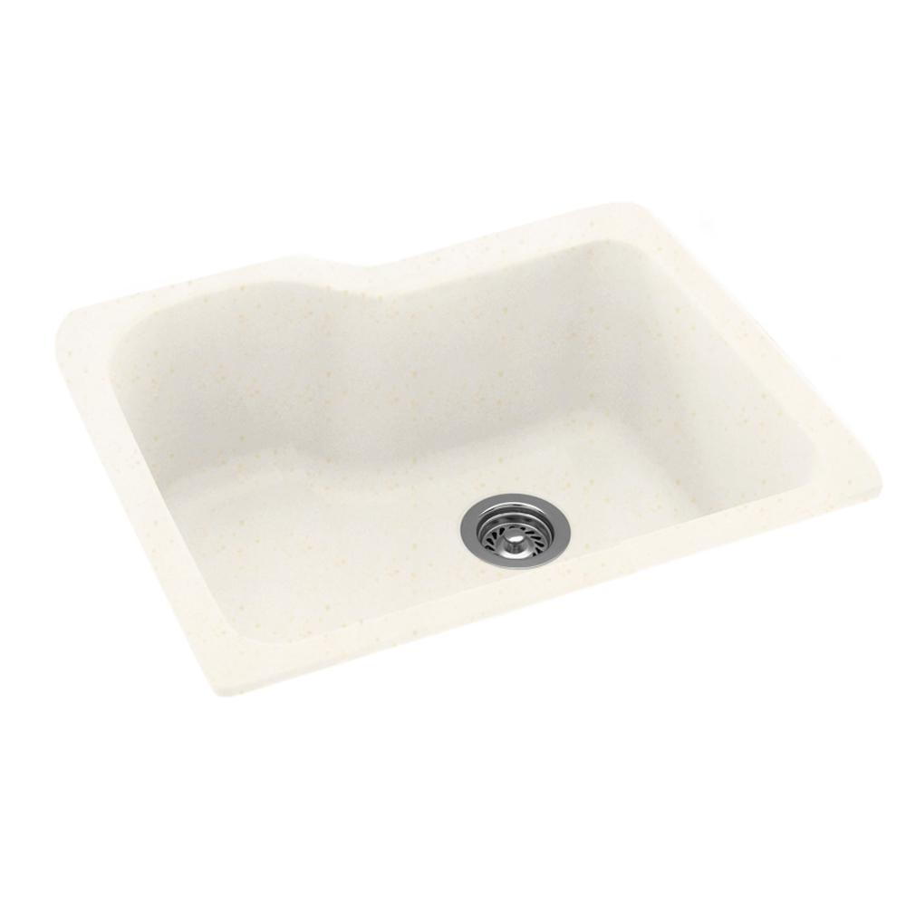 swan undermount composite 25 in  0 hole single bowl kitchen sink in baby u0027s breath us02215sb 168   the home depot swan undermount composite 25 in  0 hole single bowl kitchen sink      rh   homedepot com