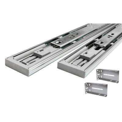 24 in. Full Extension Ball Bearing Side Mount Soft Close Drawer Slide with Rear Bracket Set (8-Pair)