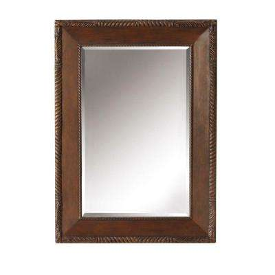 Arlington 26 in. x 36 in. Framed Wall Mirror in Antique Cherry-DISCONTINUED