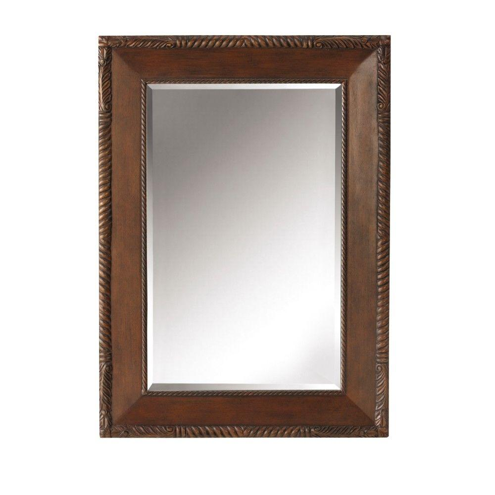 Home Decorators Collection Arlington 26 in. x 36 in. Framed Wall Mirror in Antique Cherry-DISCONTINUED
