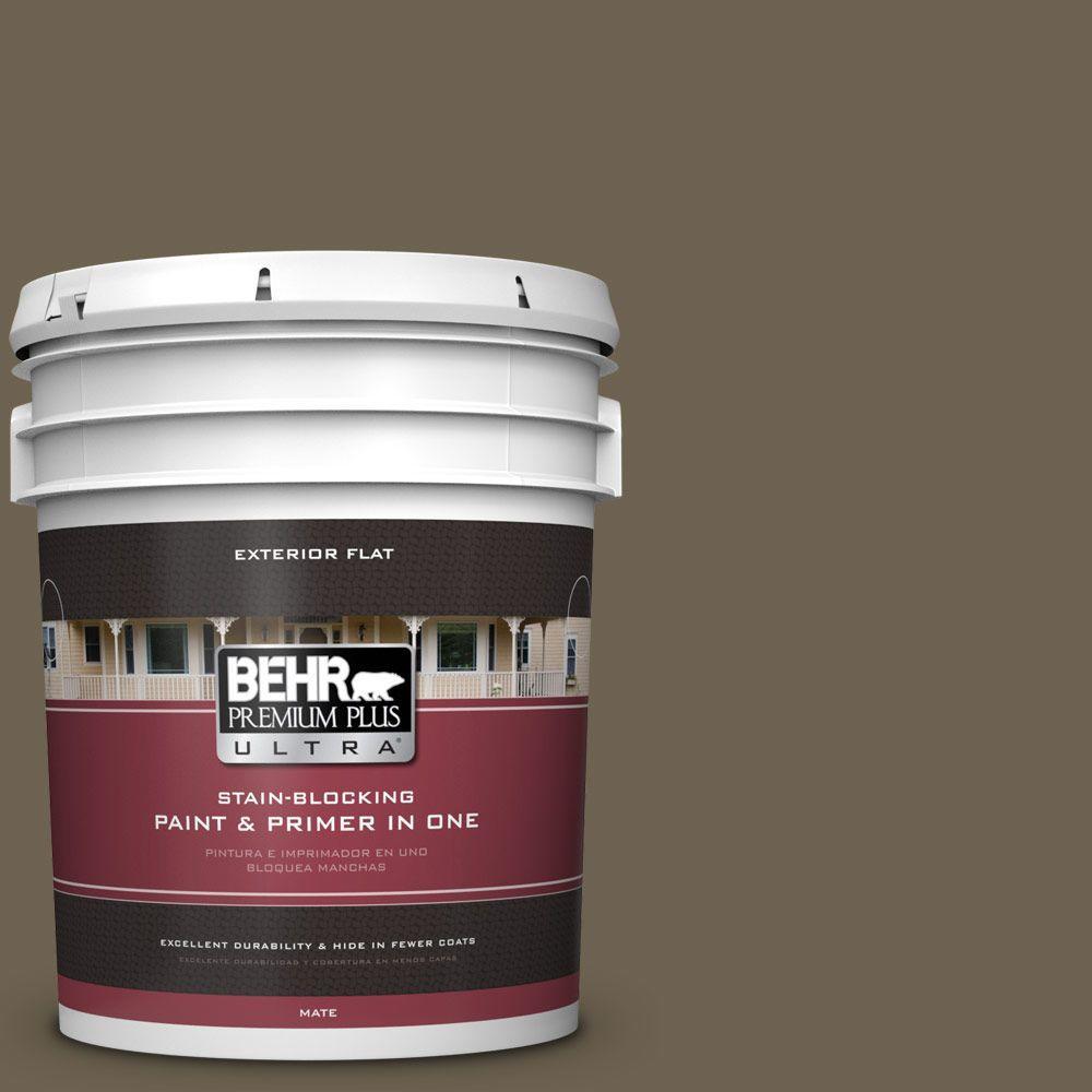 BEHR Premium Plus Ultra 5-gal. #N310-7 Classic Bronze Fla...