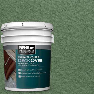 5 gal. #SC-126 Woodland Green Extra Textured Solid Color Exterior Wood and Concrete Coating