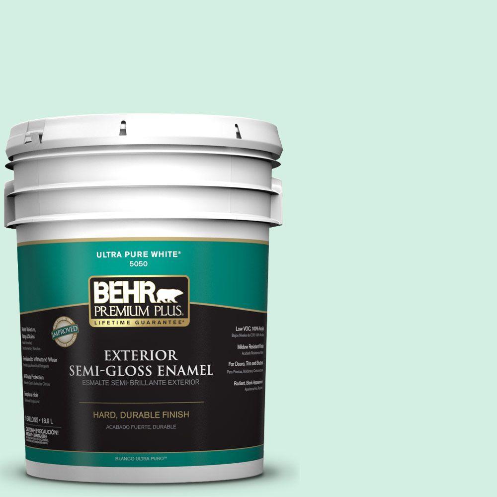 5-gal. #P420-1 Spring Frost Semi-Gloss Enamel Exterior Paint