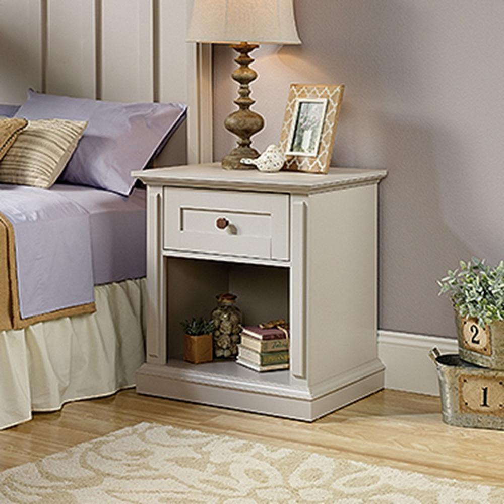 New Grange 1-Drawer Cobblestone Nightstand