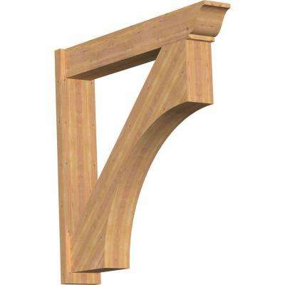 8 in. x 44 in. x 44 in. Western Red Cedar Westlake Traditional Smooth Outlooker