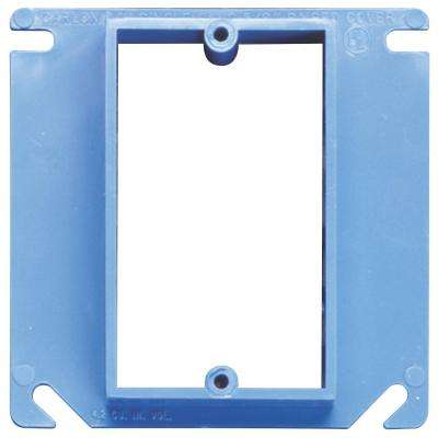 1-Gang 4 in. PVC Switch and Outlet Electrical Box Cover (Case of 40)
