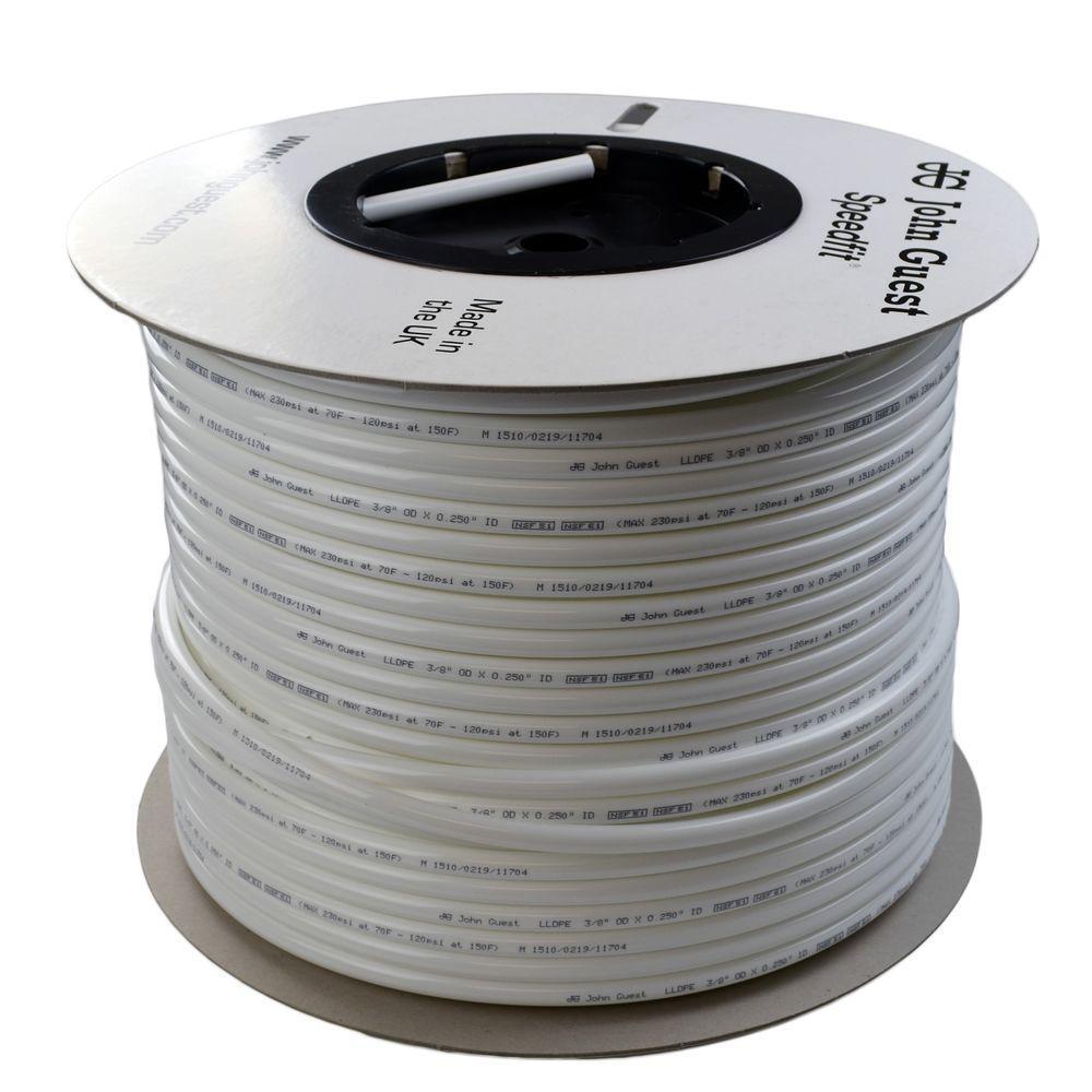3/8 in. x 500 ft. Polyethylene Tubing Coin in White