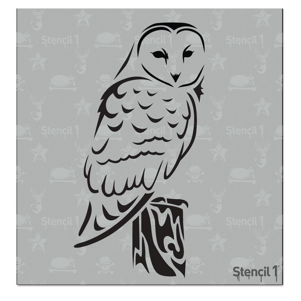 Stencils of owls 2