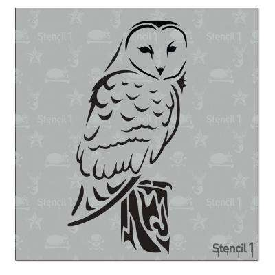 Barn Owl Small Stencil