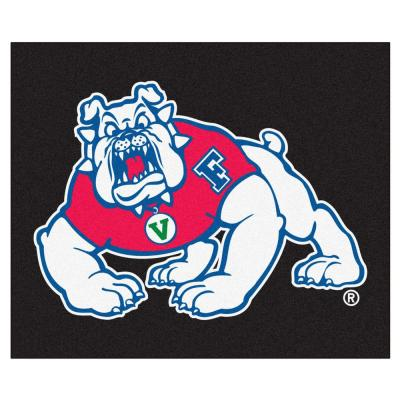 NCAA Fresno State Black 5 ft. x 8 ft. Indoor Tailgater Area Rug