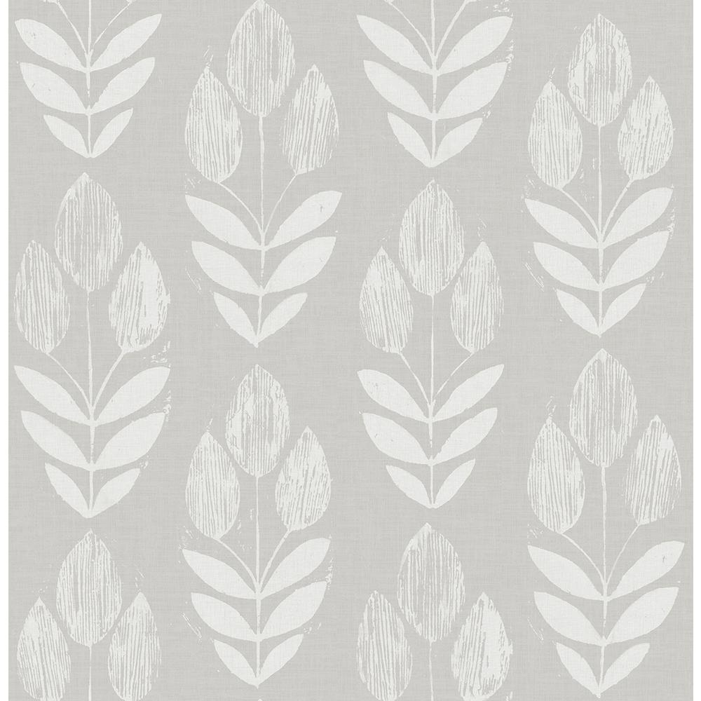 8 in. x 10 in. Garland Dove Block Tulip Wallpaper Sample