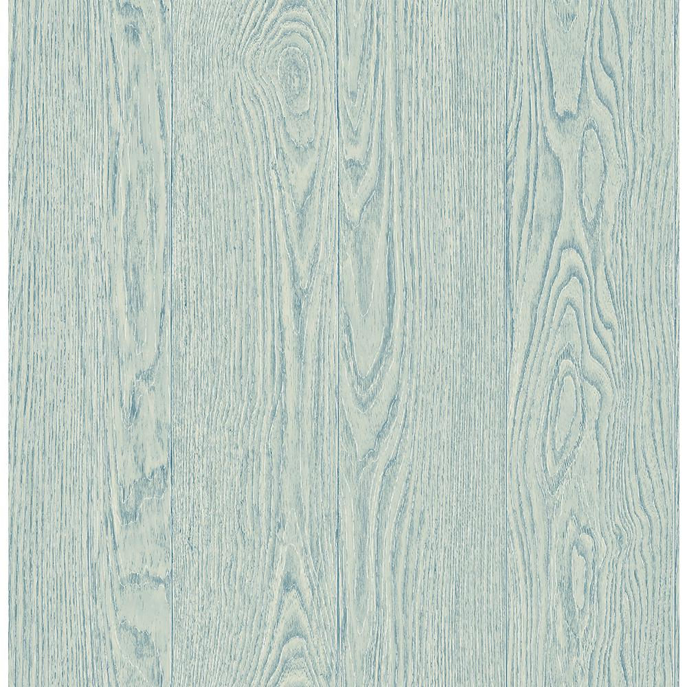 Remi Light Blue Wood Wallpaper Sample