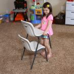 Lifetime Almond Stacking Kids Chair (Set of 4)