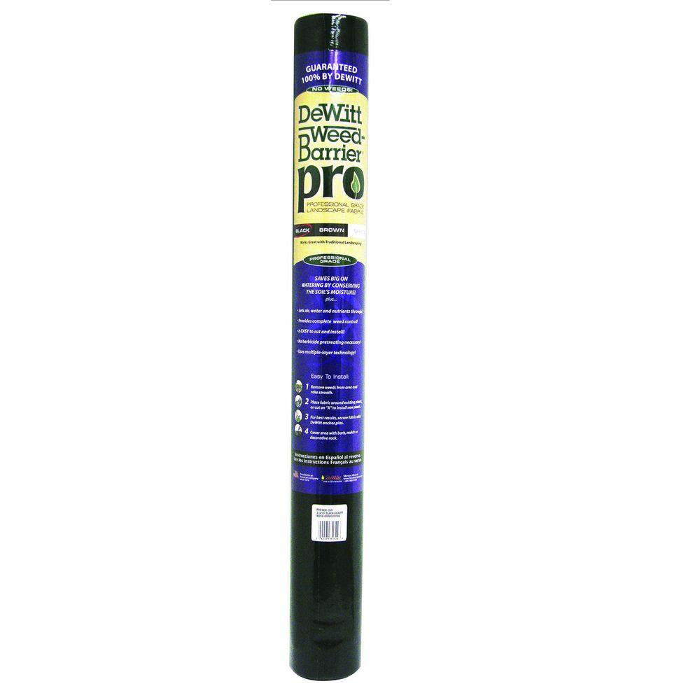 4 ft. W x 300 ft. L Polypropylene Black Weed Barrier
