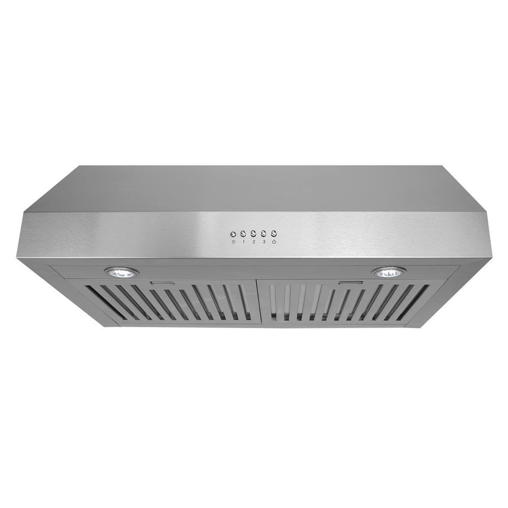 30 in. Ducted Under Cabinet Range Hood in Stainless Steel with