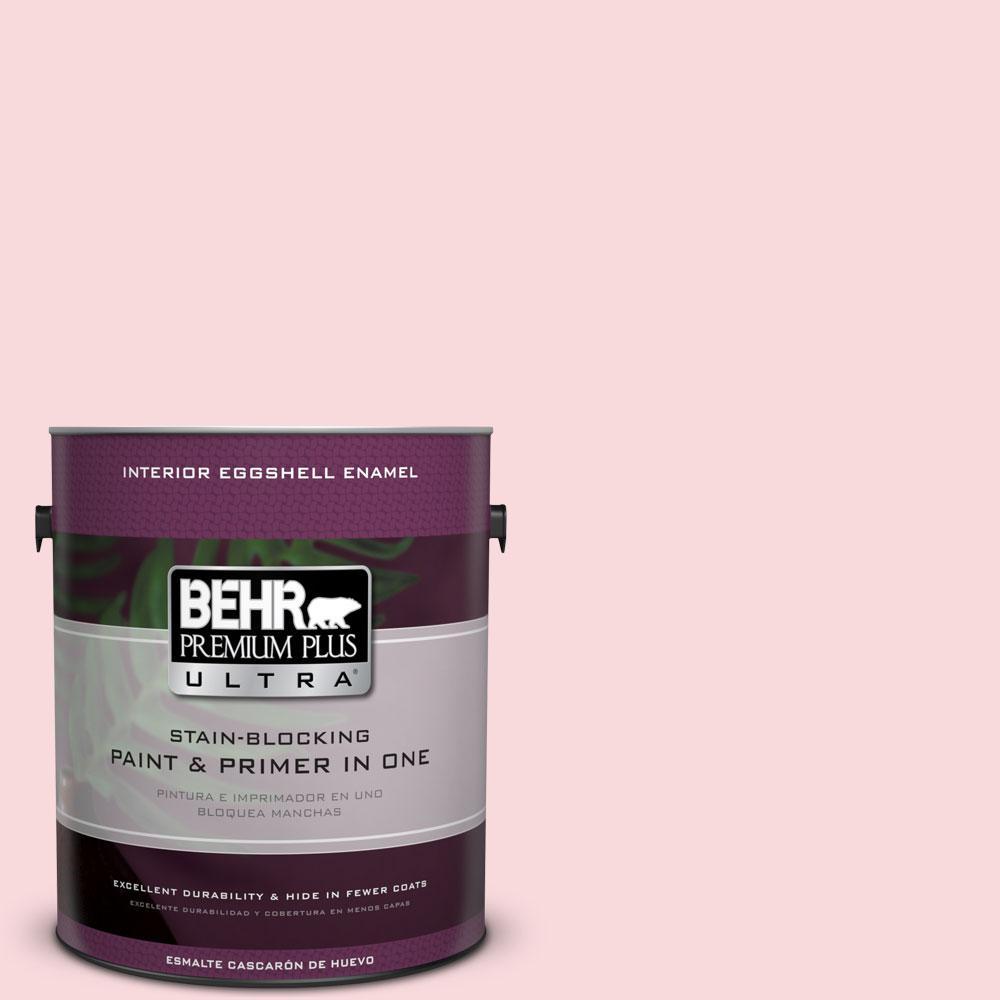 1 gal. #130C-1 Powdered Blush Eggshell Enamel Interior Paint and Primer