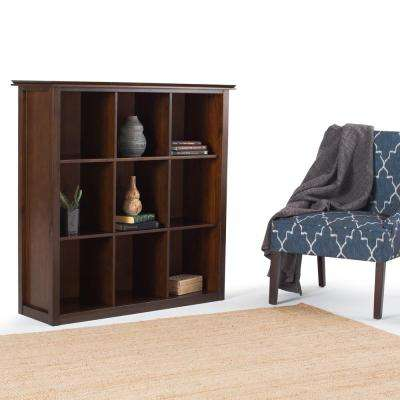 Artisan Medium Brown Auburn Brown Open Bookcase