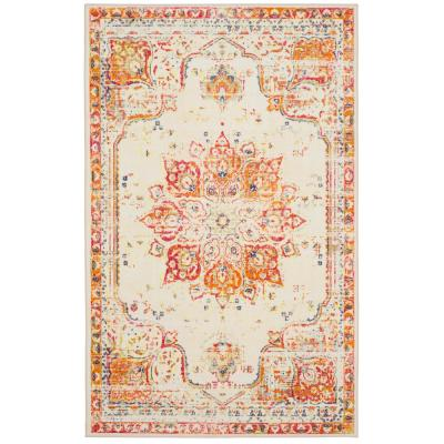 Empearal Red 5 ft. x 8 ft. Red Ornamental Area Rug