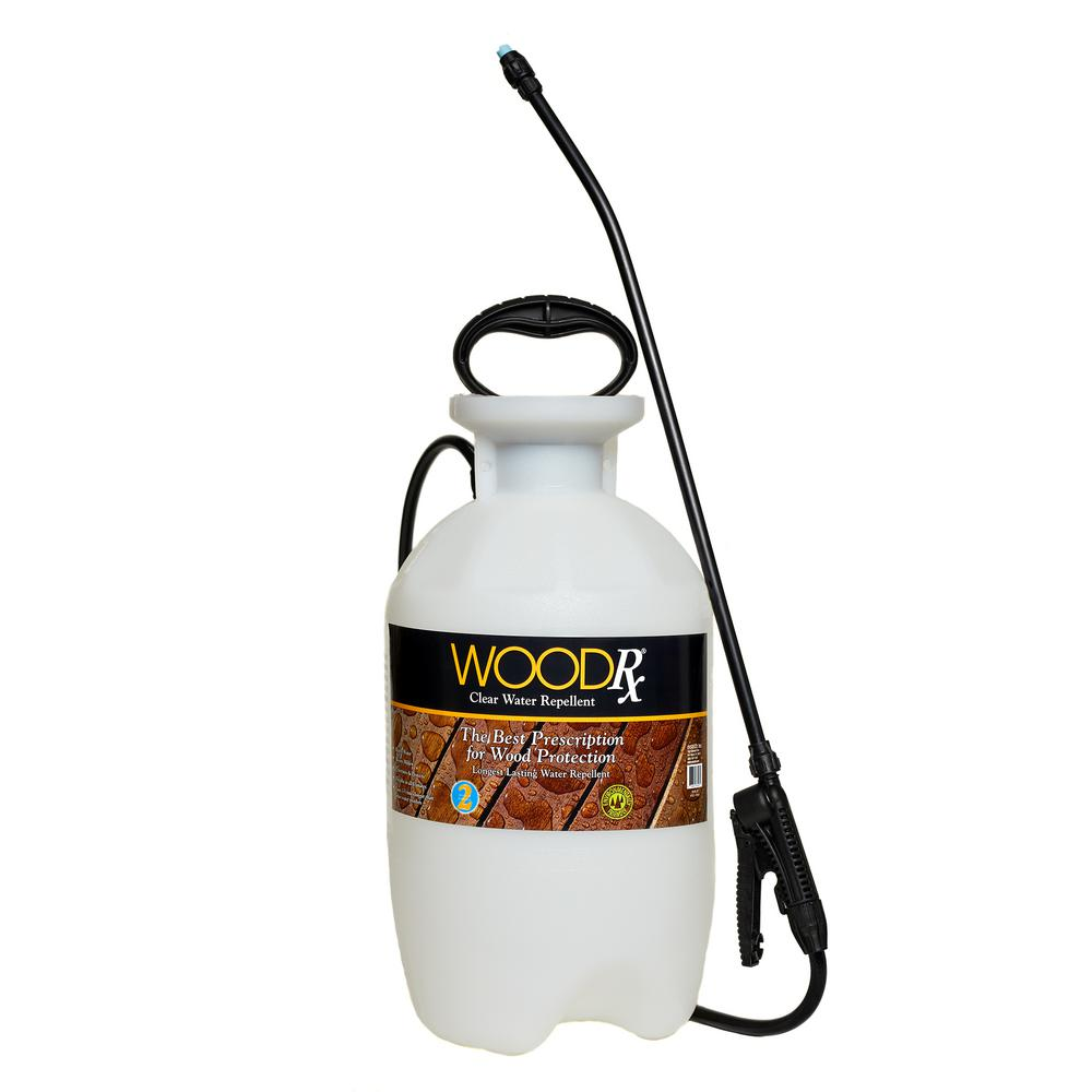 WoodRx 2 Gal. Clear Wood Protector with Pump Sprayer and Fan Tip