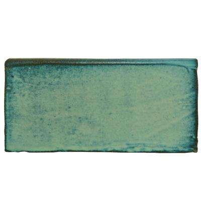 Antic Special Lava Verde 3 in. x 6 in. Ceramic Bullnose Wall Trim Tile