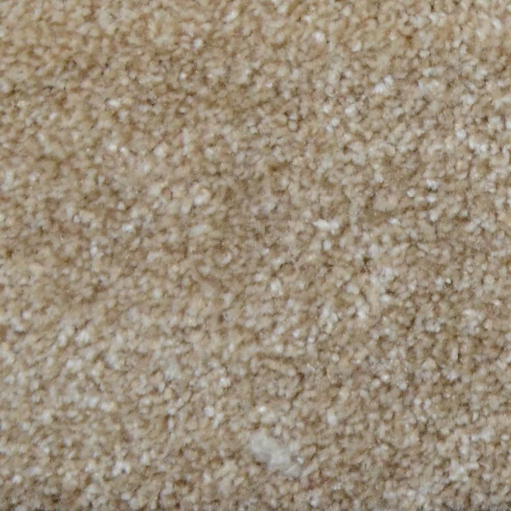 Natco Plush Natural 8 Ft. X 12 Ft. Bound Carpet Remnant
