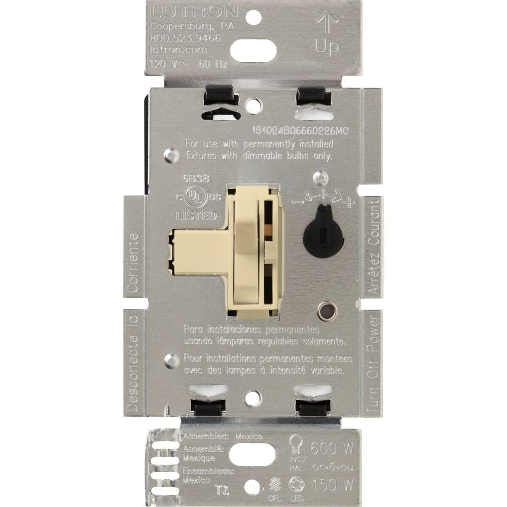 ivory lutron dimmers tgcl 153ph iv 64_1000 lutron toggler 150 watt single pole 3 way cfl led dimmer ivory lutron ayf-103p wiring diagram at virtualis.co