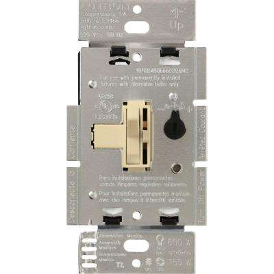 Toggler C.L Dimmer Switch for Dimmable LED, Halogen and Incandescent Bulbs, Single-Pole or 3-Way, Ivory