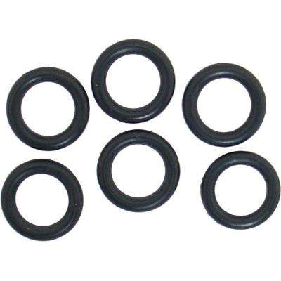 9/16 in. O.D. x 3/8 in. I.D. #208 Rubber O-Ring (6-Pack)