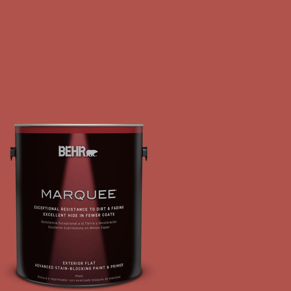 BEHR 1 gal. Red Barn and Fence Exterior Paint-02501 - The Home Depot
