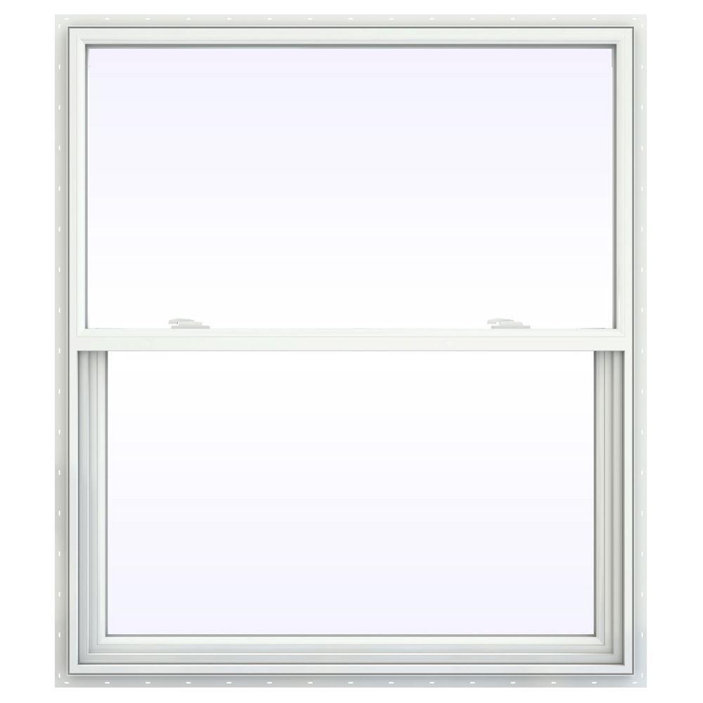 41.5 in. x 53.5 in. V-2500 Series Single Hung Vinyl Window