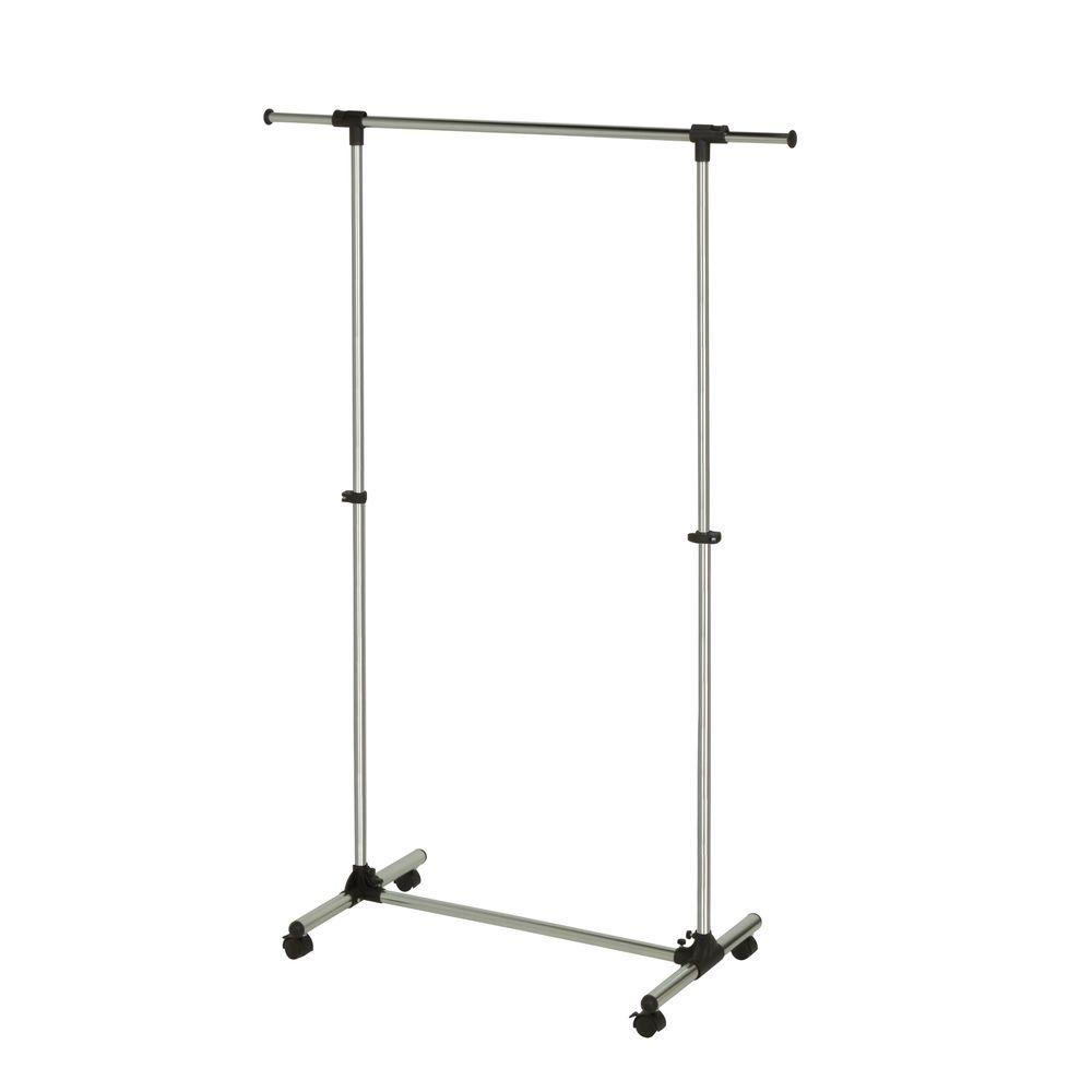 Elegant Adjustable Steel Garment Rack In Chrome