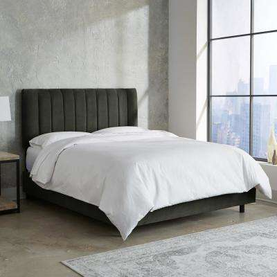 Gray California King Beds Headboards Bedroom Furniture The