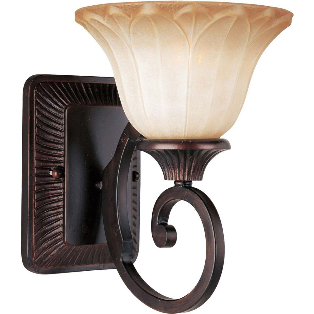 Maxim Lighting Allentown 1 Light Oil Rubbed Bronze Sconce
