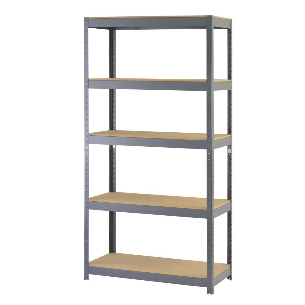 72 in. H x 36 in. W x 18 in. D 5-  sc 1 st  Home Depot & Muscle Rack - Wood - Garage Shelves u0026 Racks - Garage Storage - The ...