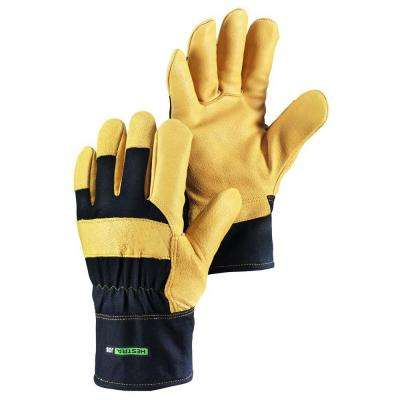 Tantel Size 10 X- Large Cold Weather Insulated Durable Pigskin Glove in Black and Tan