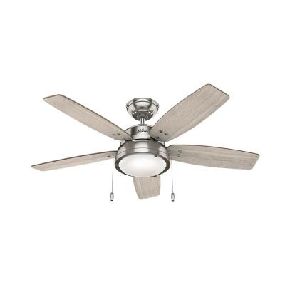 Channelside 46 in. LED Indoor Brushed Nickel Ceiling Fan with Light Kit