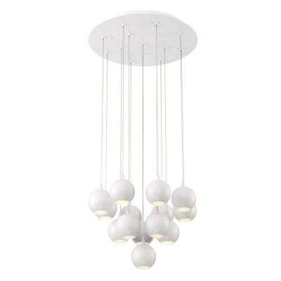Patruno Collection 30.8-Watt White Integrated LED Chandelier