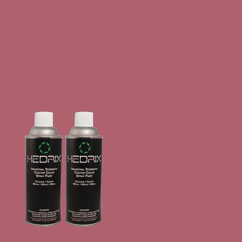 Hedrix 11 oz. Match of 2B32-6 Luscious Berry Low Lustre Custom Spray Paint (2-Pack)