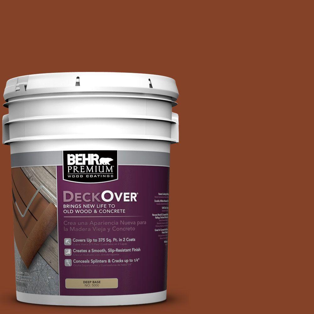 BEHR Premium DeckOver 5 gal. #SC-142 Cappuccino Wood and Concrete Coating